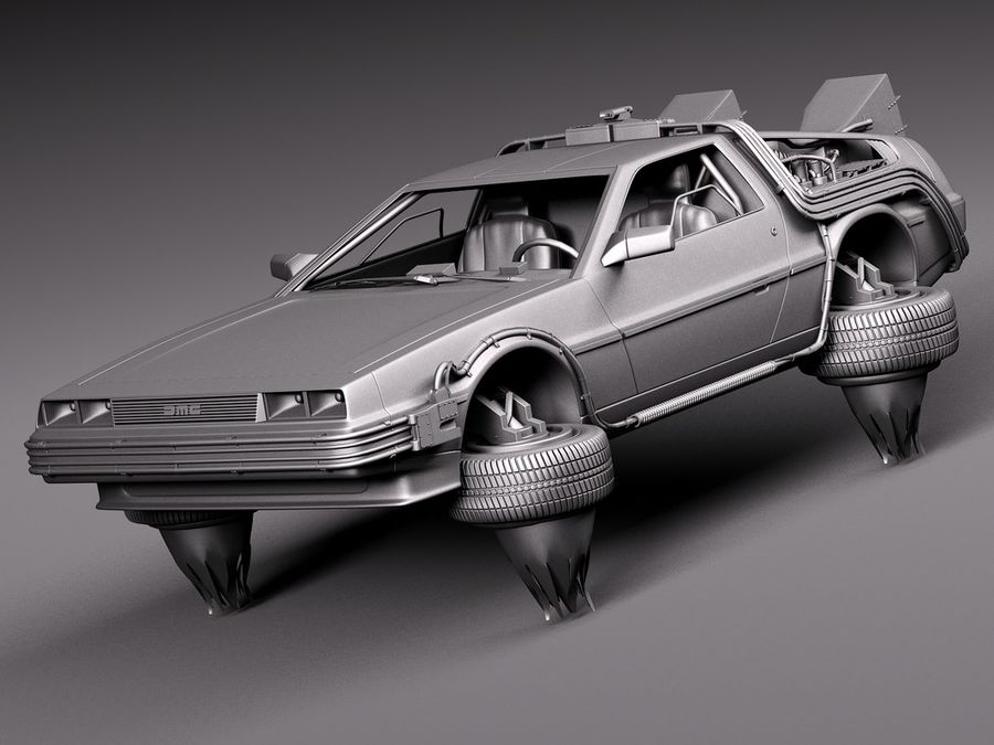 Back To The Future Delorean Episode 2 Future royalty-free 3d model - Preview no. 11