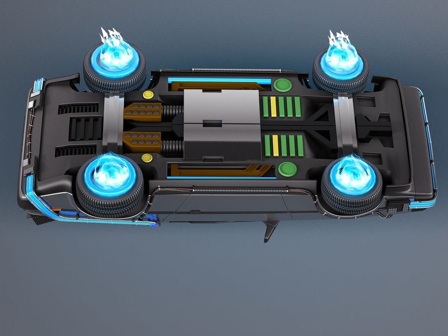 Back To The Future Delorean Episode 2 Future royalty-free 3d model - Preview no. 9