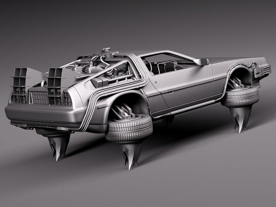 Back To The Future Delorean Episode 2 Future royalty-free 3d model - Preview no. 14