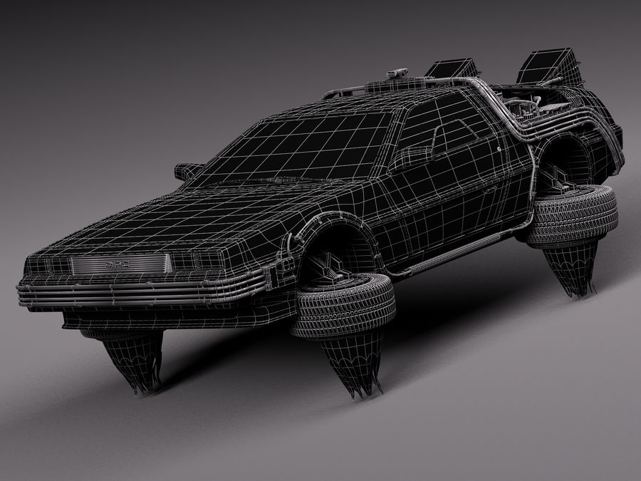Back To The Future Delorean Episode 2 Future royalty-free 3d model - Preview no. 17