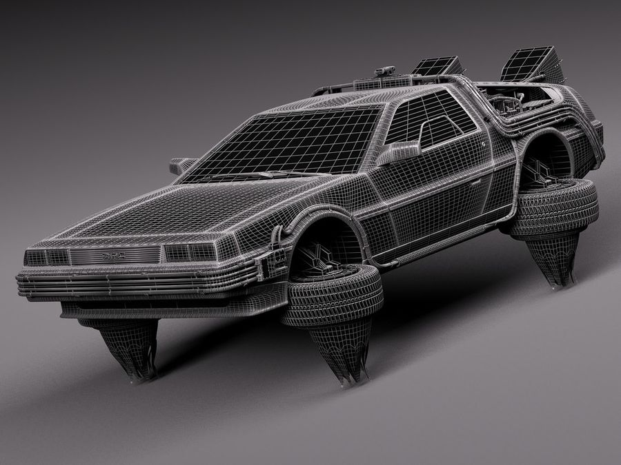 Back To The Future Delorean Episode 2 Future royalty-free 3d model - Preview no. 15