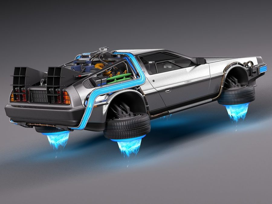 Back To The Future Delorean Episode 2 Future royalty-free 3d model - Preview no. 5