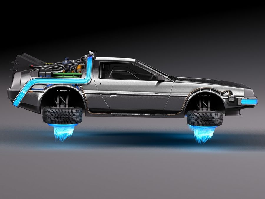 Back To The Future Delorean Episode 2 Future royalty-free 3d model - Preview no. 7