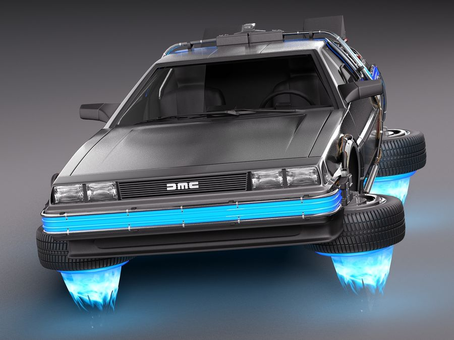 Back To The Future Delorean Episode 2 Future royalty-free 3d model - Preview no. 2