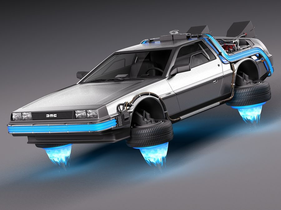 Back To The Future Delorean Episode 2 Future royalty-free 3d model - Preview no. 1