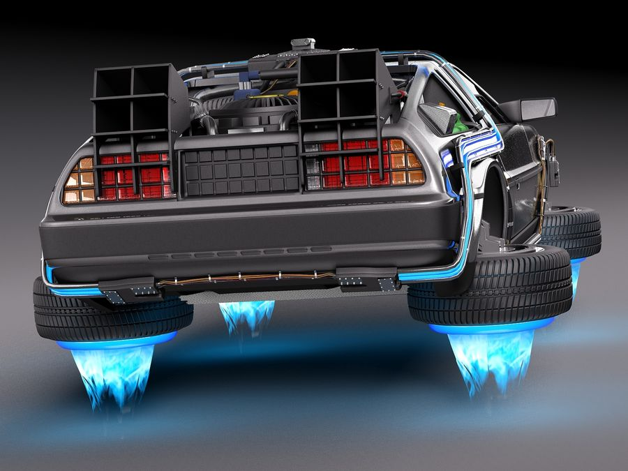 Back To The Future Delorean Episode 2 Future royalty-free 3d model - Preview no. 6