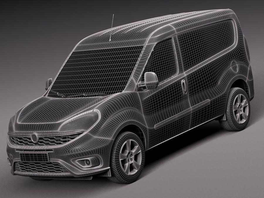Fiat Doblo Cargo 2015 royalty-free 3d model - Preview no. 13