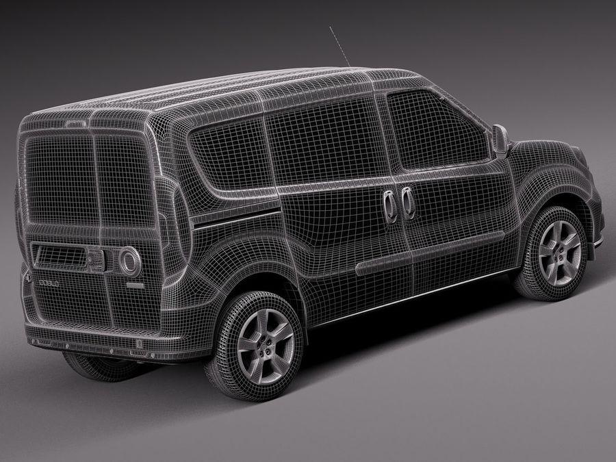Fiat Doblo Cargo 2015 royalty-free 3d model - Preview no. 14