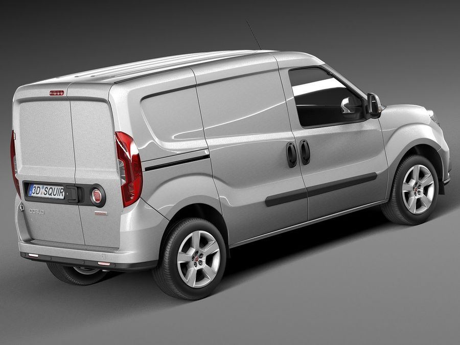 Fiat Doblo Cargo 2015 royalty-free 3d model - Preview no. 5