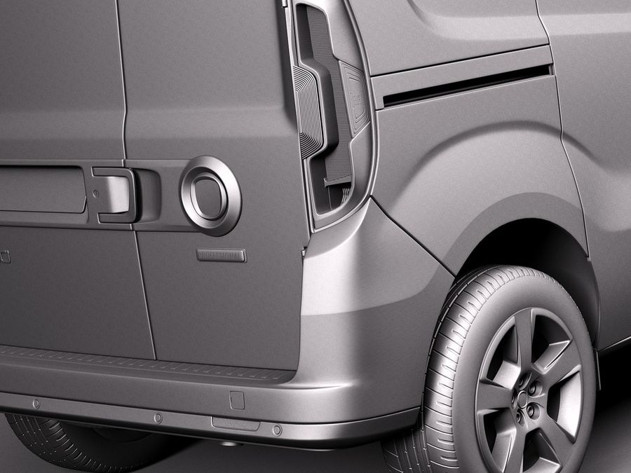 Fiat Doblo Cargo 2015 royalty-free 3d model - Preview no. 11