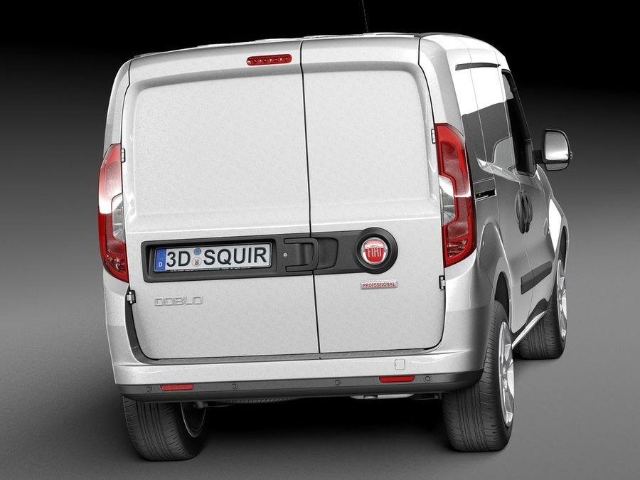 Fiat Doblo Cargo 2015 royalty-free 3d model - Preview no. 6
