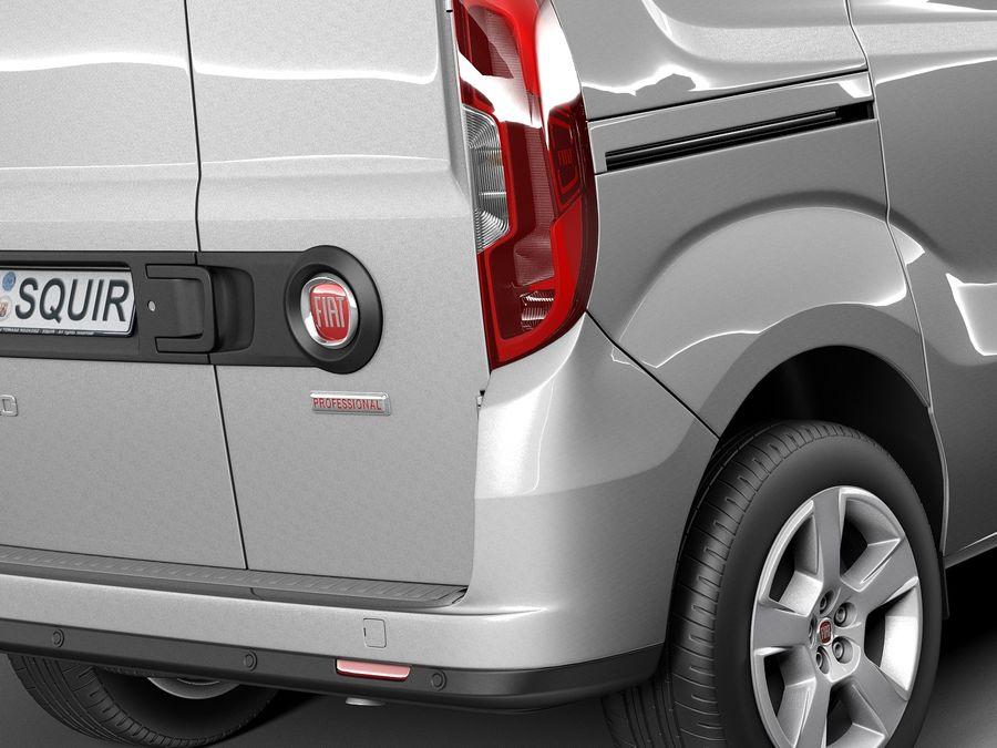 Fiat Doblo Cargo 2015 royalty-free 3d model - Preview no. 4