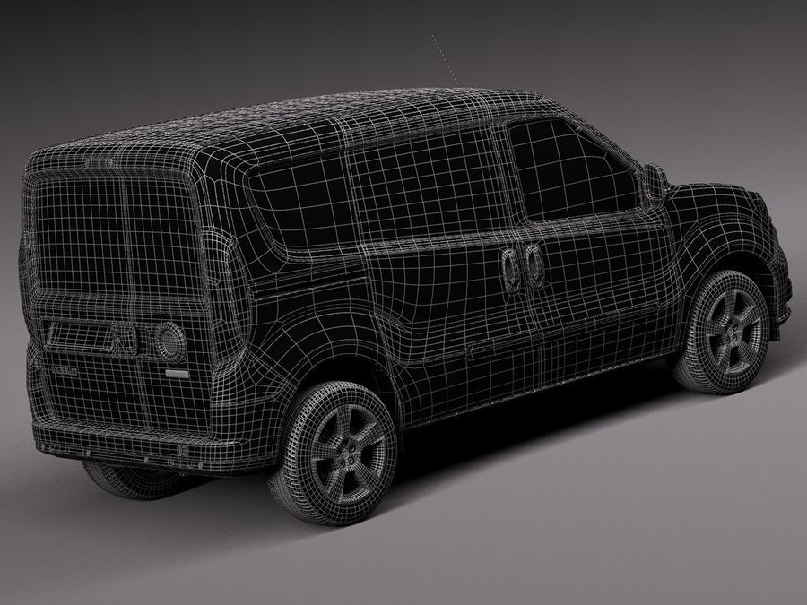 Fiat Doblo Cargo 2015 royalty-free 3d model - Preview no. 16