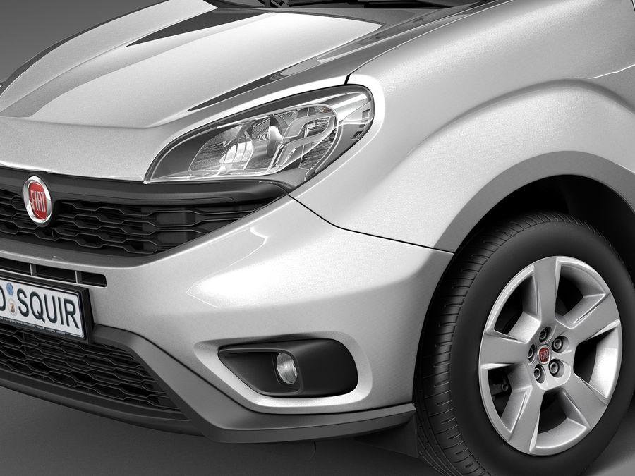 Fiat Doblo Cargo 2015 royalty-free 3d model - Preview no. 3