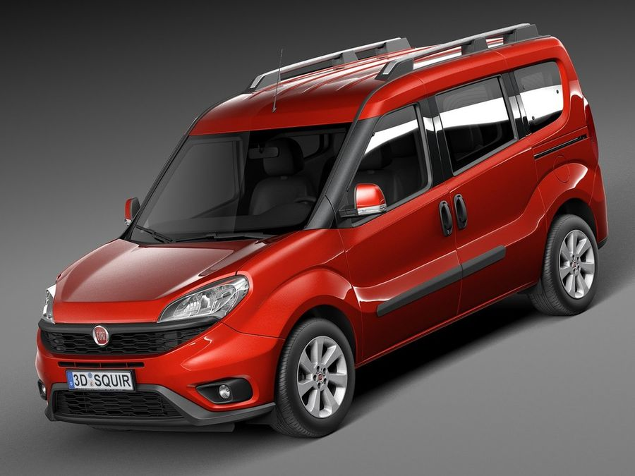 Fiat Doblo Passenger 2015 royalty-free 3d model - Preview no. 1