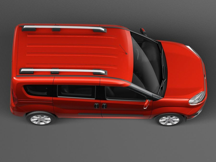 Fiat Doblo Passenger 2015 royalty-free 3d model - Preview no. 8