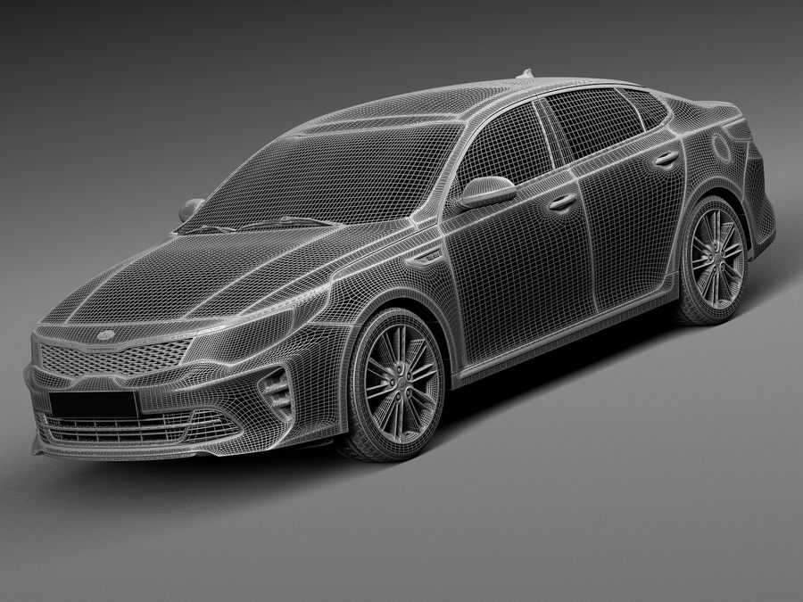 Kia Optima 2016 royalty-free modelo 3d - Preview no. 13