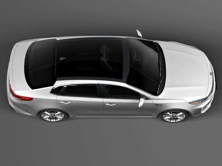 Kia Optima 2016 royalty-free modelo 3d - Preview no. 8