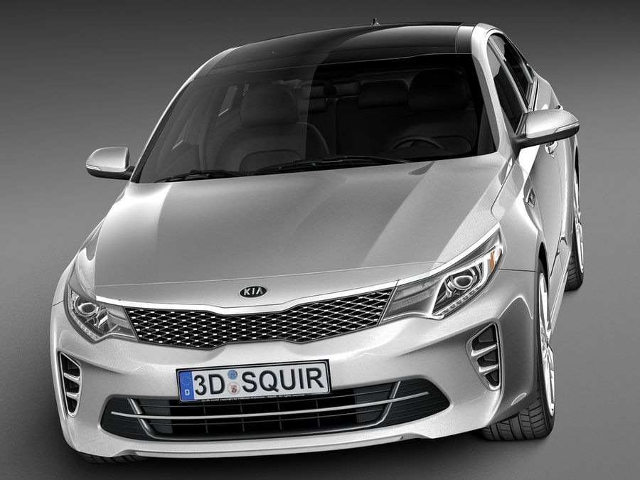 Kia Optima 2016 royalty-free modelo 3d - Preview no. 2