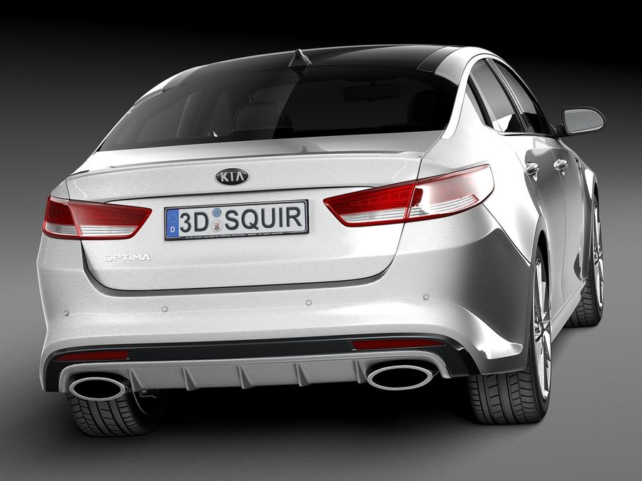 Kia Optima 2016 royalty-free modelo 3d - Preview no. 6