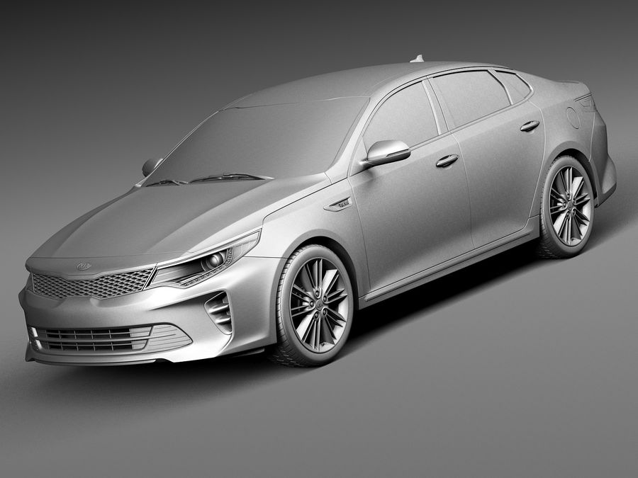 Kia Optima 2016 royalty-free modelo 3d - Preview no. 9