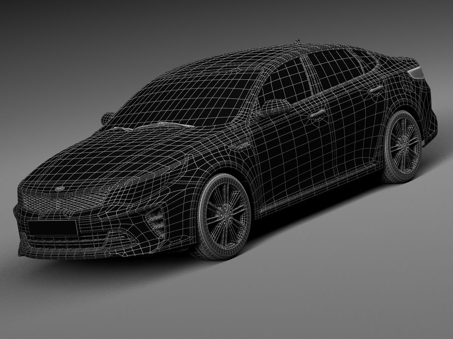 Kia Optima 2016 royalty-free modelo 3d - Preview no. 15