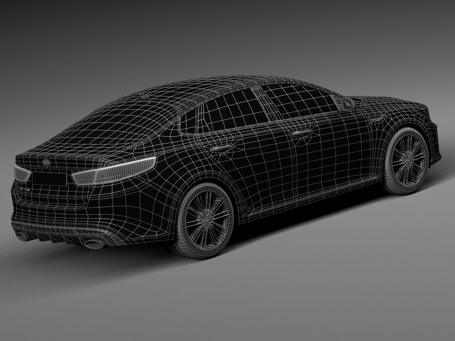 Kia Optima 2016 royalty-free modelo 3d - Preview no. 16