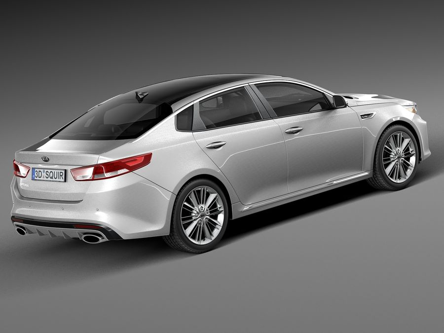 Kia Optima 2016 royalty-free modelo 3d - Preview no. 5