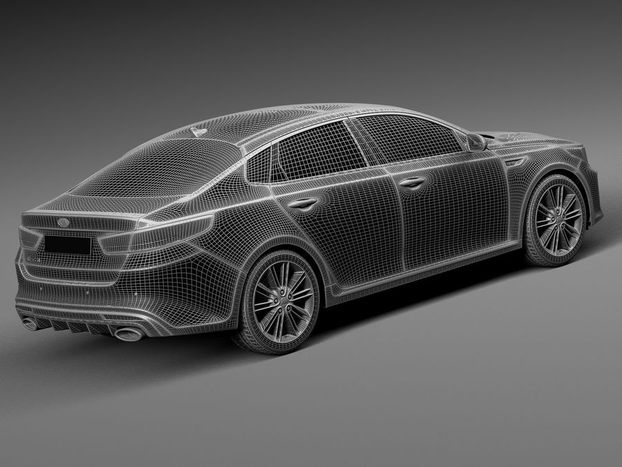 Kia Optima 2016 royalty-free modelo 3d - Preview no. 14