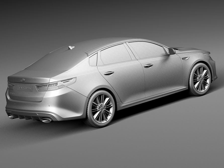 Kia Optima 2016 royalty-free modelo 3d - Preview no. 12