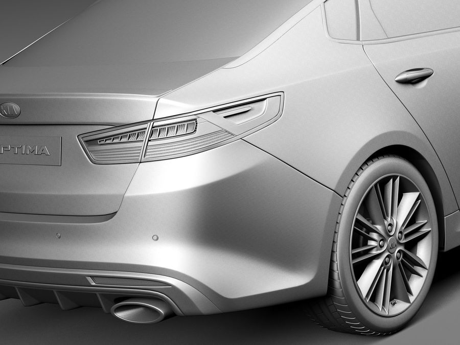 Kia Optima 2016 royalty-free modelo 3d - Preview no. 11