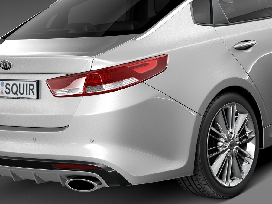 Kia Optima 2016 royalty-free modelo 3d - Preview no. 4