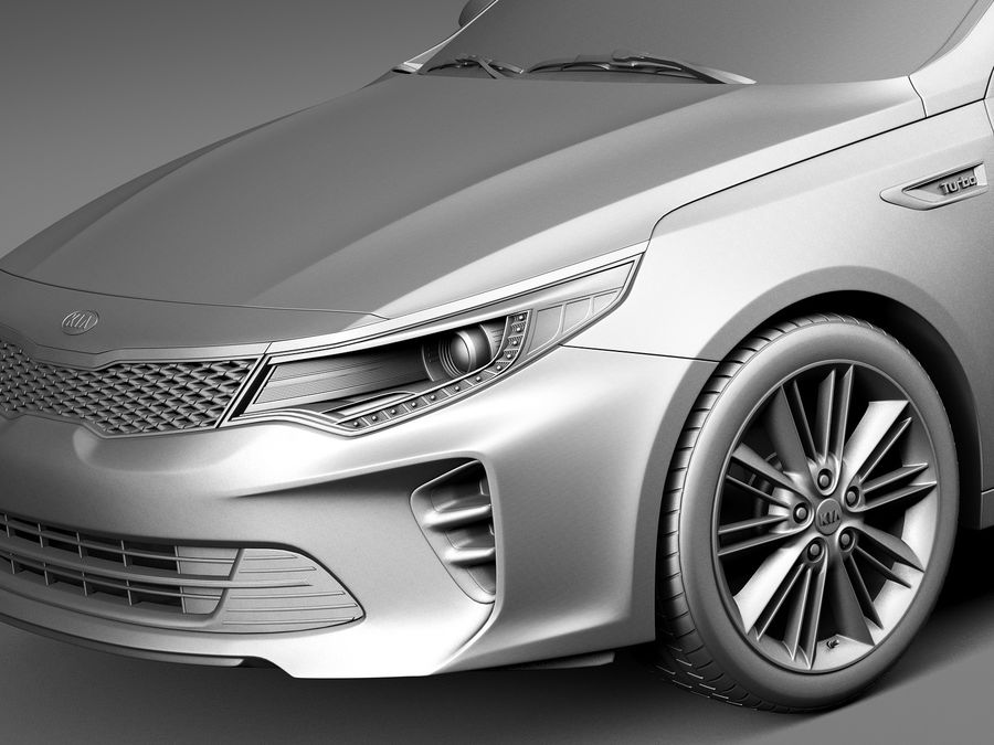 Kia Optima 2016 royalty-free modelo 3d - Preview no. 10
