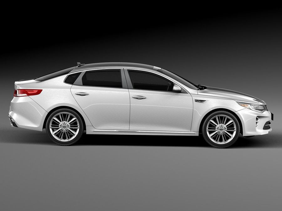 Kia Optima 2016 royalty-free modelo 3d - Preview no. 7
