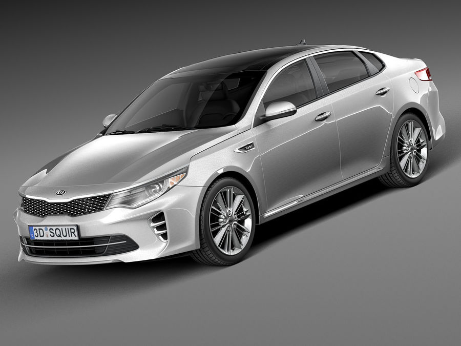 Kia Optima 2016 royalty-free modelo 3d - Preview no. 1
