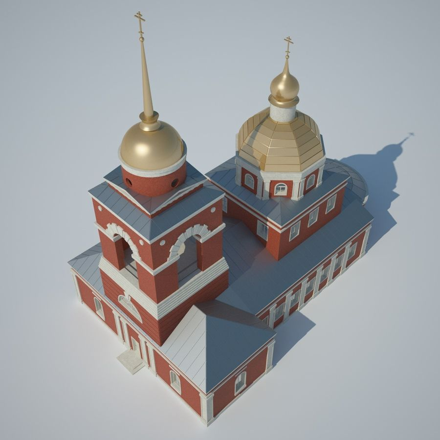 Church royalty-free 3d model - Preview no. 2
