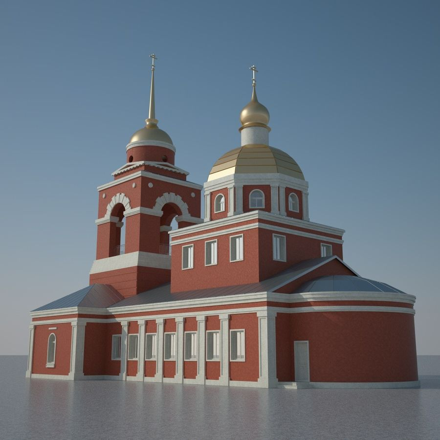 Church royalty-free 3d model - Preview no. 4