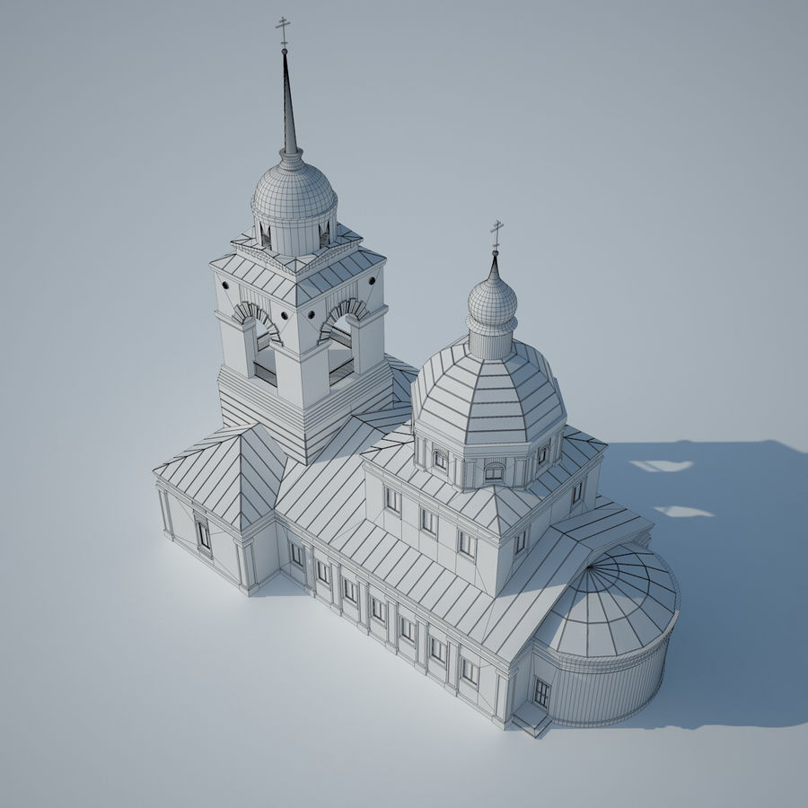 Church royalty-free 3d model - Preview no. 7