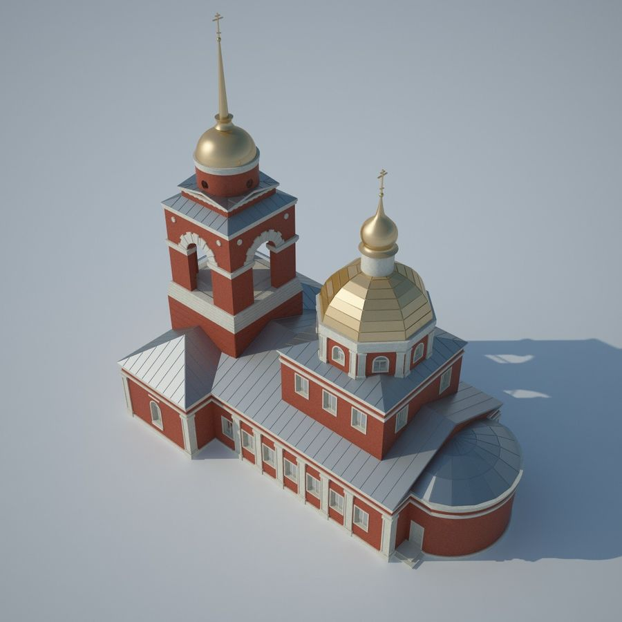 Church royalty-free 3d model - Preview no. 6