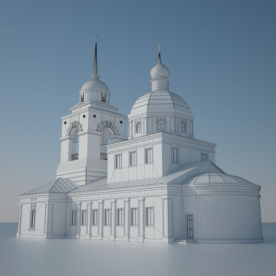 Church royalty-free 3d model - Preview no. 5