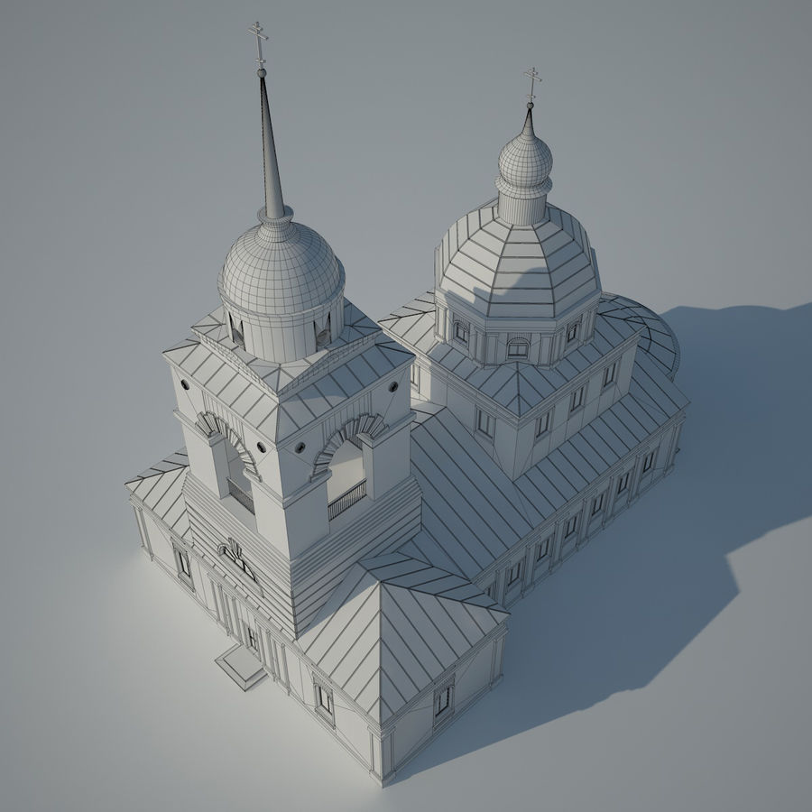 Church royalty-free 3d model - Preview no. 3