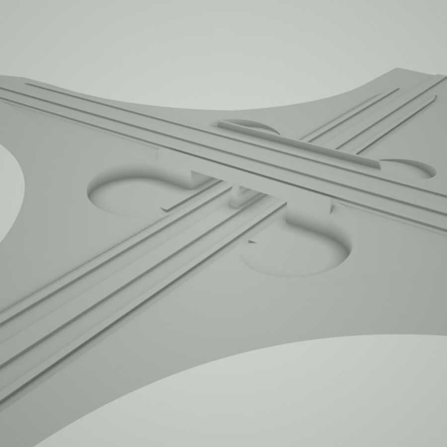 Freeway Interchange royalty-free 3d model - Preview no. 4
