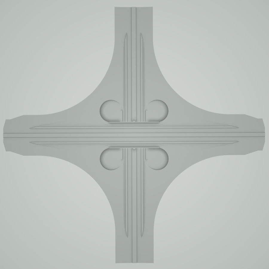 Freeway Interchange royalty-free 3d model - Preview no. 7
