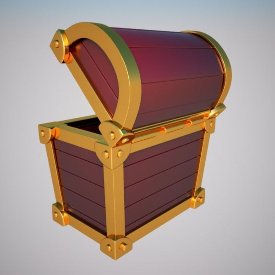 Crate Chest royalty-free 3d model - Preview no. 4