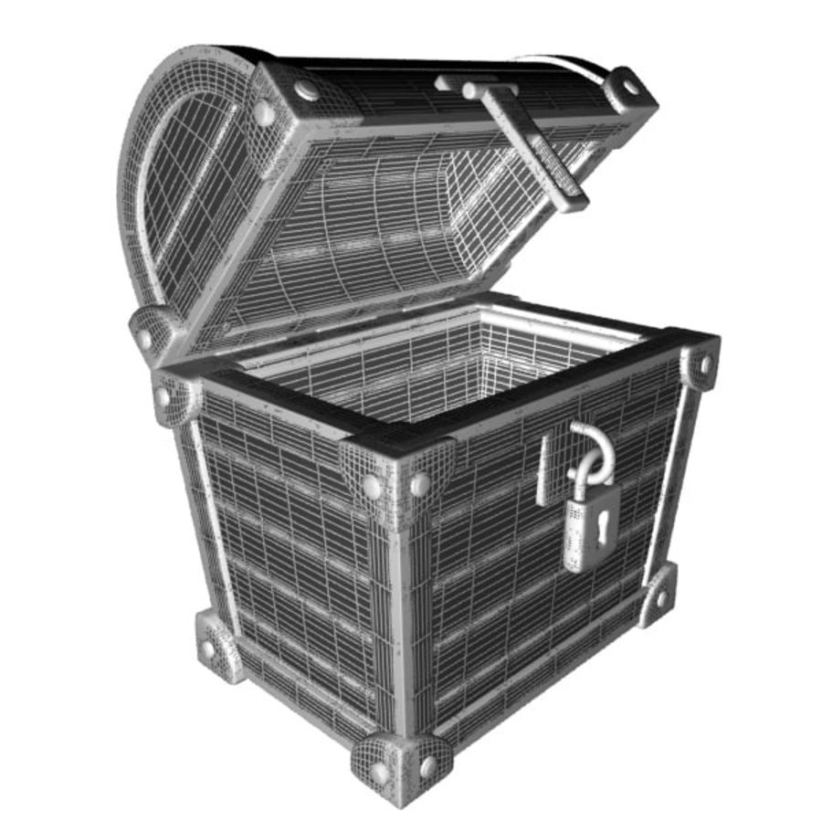 Crate Chest royalty-free 3d model - Preview no. 7