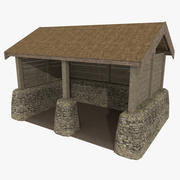 Viking stable one textured 3d model