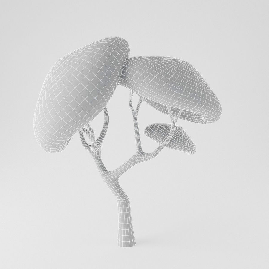 Toon Tree royalty-free 3d model - Preview no. 10