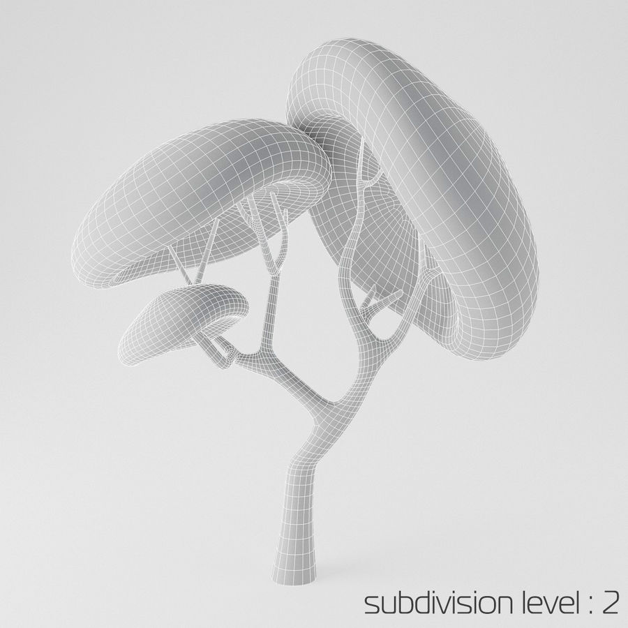 Toon Tree royalty-free 3d model - Preview no. 4