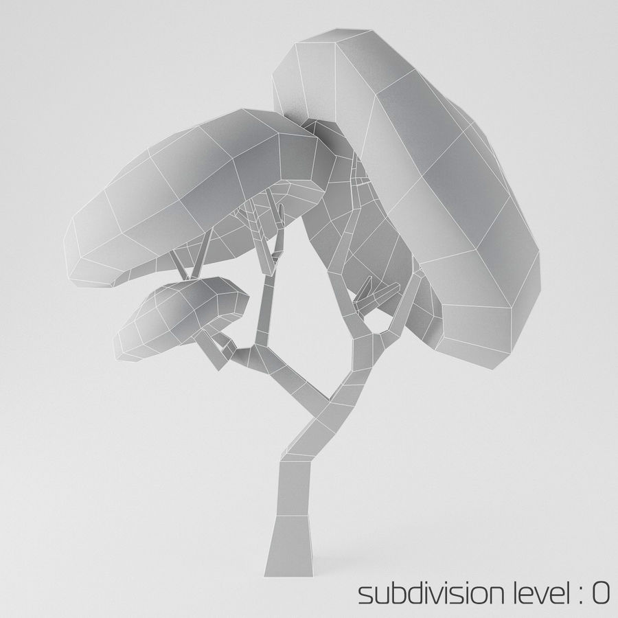 Toon Tree royalty-free 3d model - Preview no. 2
