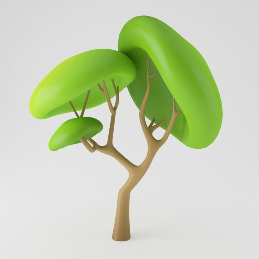 Toon Tree royalty-free 3d model - Preview no. 1